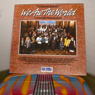 vinyl record LP cover, We Are the World by USA for Africa (1985)